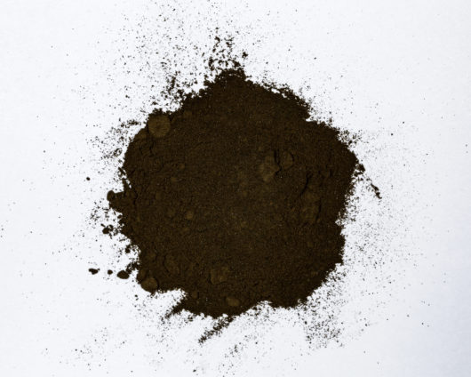 A top down view of a small pile of Leonurus sibiricus (Siberian Motherwort) 20x powder extract.